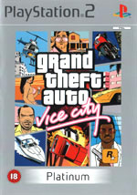 Скан обложки игры Grand Theft Auto: Vice City на PlayStation 2