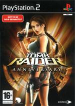 Скан обложки игры Lara Croft Tomb Raider: Anniversary на PlayStation 2