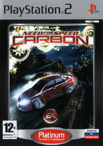 Скан обложки игры Need For Speed: Carbon на PlayStation 2