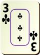 """Изображение игральной карты c рамкой """"Cross 3"""" (Cross 3)"""
