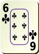 """Изображение игральной карты c рамкой """"Cross 6"""" (Cross 6)"""