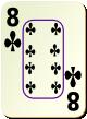 """Изображение игральной карты c рамкой """"Cross 8"""" (Cross 8)"""