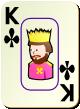 """Изображение игральной карты c рамкой """"Cross King"""" (Cross King)"""