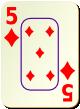 """Изображение игральной карты c рамкой """"Diamond 5"""" (Diamond 5)"""