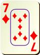 """Изображение игральной карты c рамкой """"Diamond 7"""" (Diamond 7)"""