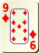 """Изображение игральной карты c рамкой """"Diamond 9"""" (Diamond 9)"""