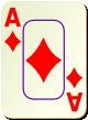 """Изображение игральной карты c рамкой """"Diamond Ace"""" (Diamond Ace)"""