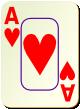 """Изображение игральной карты c рамкой """"Heart Ace"""" (Heart Ace)"""