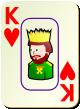 """Изображение игральной карты c рамкой """"Heart King"""" (Heart King)"""