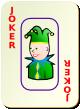 """Изображение игральной карты c рамкой """"Joker Red"""" (Joker Red)"""