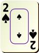 """Изображение игральной карты c рамкой """"Spear 2"""" (Spear 2)"""