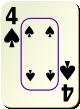"""Изображение игральной карты c рамкой """"Spear 4"""" (Spear 4)"""
