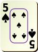 """Изображение игральной карты c рамкой """"Spear 5"""" (Spear 5)"""