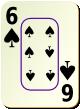"""Изображение игральной карты c рамкой """"Spear 6"""" (Spear 6)"""
