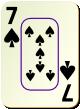 """Изображение игральной карты c рамкой """"Spear 7"""" (Spear 7)"""