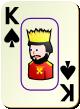 """Изображение игральной карты c рамкой """"Spear King"""" (Spear King)"""