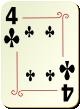"""Изображение игральной карты с орнаментом """"Cross 4"""" (Cross 4)"""