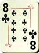 """Изображение игральной карты с орнаментом """"Cross 8"""" (Cross 8)"""