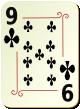 """Изображение игральной карты с орнаментом """"Cross 9"""" (Cross 9)"""