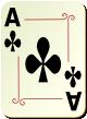 """Изображение игральной карты с орнаментом """"Cross Ace"""" (Cross Ace)"""