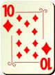 """Изображение игральной карты с орнаментом """"Diamond 10"""" (Diamond 10)"""
