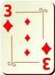 """Изображение игральной карты с орнаментом """"Diamond 3"""" (Diamond 3)"""
