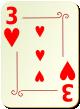 """Изображение игральной карты с орнаментом """"Heart 3"""" (Heart 3)"""