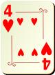 """Изображение игральной карты с орнаментом """"Heart 4"""" (Heart 4)"""