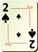 """Изображение игральной карты с орнаментом """"Spear 2"""" (Spear 2)"""