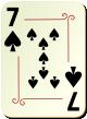 """Изображение игральной карты с орнаментом """"Spear 7"""" (Spear 7)"""