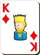 """Изображение игральной карты с белым фоном """"Diamond King"""" (Diamond King)"""