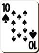 """Изображение игральной карты с белым фоном """"Spear 10"""" (Spear 10)"""