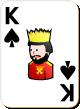"""Изображение игральной карты с белым фоном """"Spear King"""" (Spear King)"""