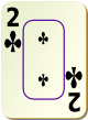 """Изображение игральной карты c рамкой """"Cross 2"""" (Cross 2)"""