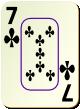 """Изображение игральной карты c рамкой """"Cross 7"""" (Cross 7)"""
