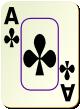 """Изображение игральной карты c рамкой """"Cross Ace"""" (Cross Ace)"""