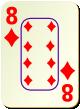 """Изображение игральной карты c рамкой """"Diamond 8"""" (Diamond 8)"""