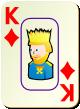 """Изображение игральной карты c рамкой """"Diamond King"""" (Diamond King)"""