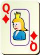 """Изображение игральной карты c рамкой """"Diamond Queen"""" (Diamond Queen)"""