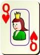 """Изображение игральной карты c рамкой """"Heart Queen"""" (Heart Queen)"""