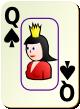 """Изображение игральной карты c рамкой """"Spear Queen"""" (Spear Queen)"""