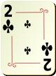 """Изображение игральной карты с орнаментом """"Cross 2"""" (Cross 2)"""