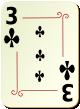 """Изображение игральной карты с орнаментом """"Cross 3"""" (Cross 3)"""