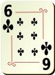 """Изображение игральной карты с орнаментом """"Cross 6"""" (Cross 6)"""