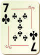 """Изображение игральной карты с орнаментом """"Cross 7"""" (Cross 7)"""