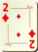 """Изображение игральной карты с орнаментом """"Diamond 2"""" (Diamond 2)"""
