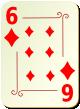 """Изображение игральной карты с орнаментом """"Diamond 6"""" (Diamond 6)"""