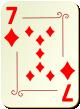 """Изображение игральной карты с орнаментом """"Diamond 7"""" (Diamond 7)"""