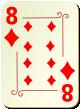 """Изображение игральной карты с орнаментом """"Diamond 8"""" (Diamond 8)"""