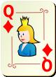"""Изображение игральной карты с орнаментом """"Diamond Queen"""" (Diamond Queen)"""